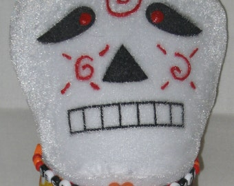 Skully Gal--A Day-of-the-Dead inspired stuffed doll