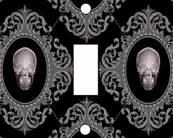 Skulls in antique like frames Light Switch Cover Single Toggle