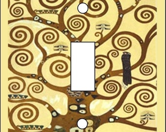 Tree of Life Klimt Light Switch Cover Single Toggle