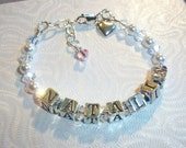 First Holy Communion New Born  Wedding Birthday God Mother Bracelet Confirmation