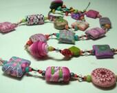 Pink neklace - Lush Garden