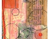 """Mini Original Art Collage - """"La Casa"""" ACEO"""