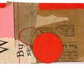 "Mini Original Art Collage - ""Fire Ball"" ACEO"
