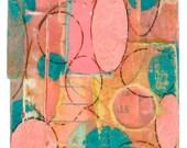 """Original Abstract Collage - """"Calm Chaos"""" ACEO"""