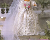 Annie's Fashion Crochet Doll Club Blushing Bridal Gown COMPLETED ITEMS