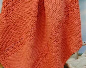 Baby Blanket-Rust