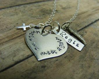 Handstamped jewelry-personalized jewelry- Remembrance necklace-until we meet again-sterling silver