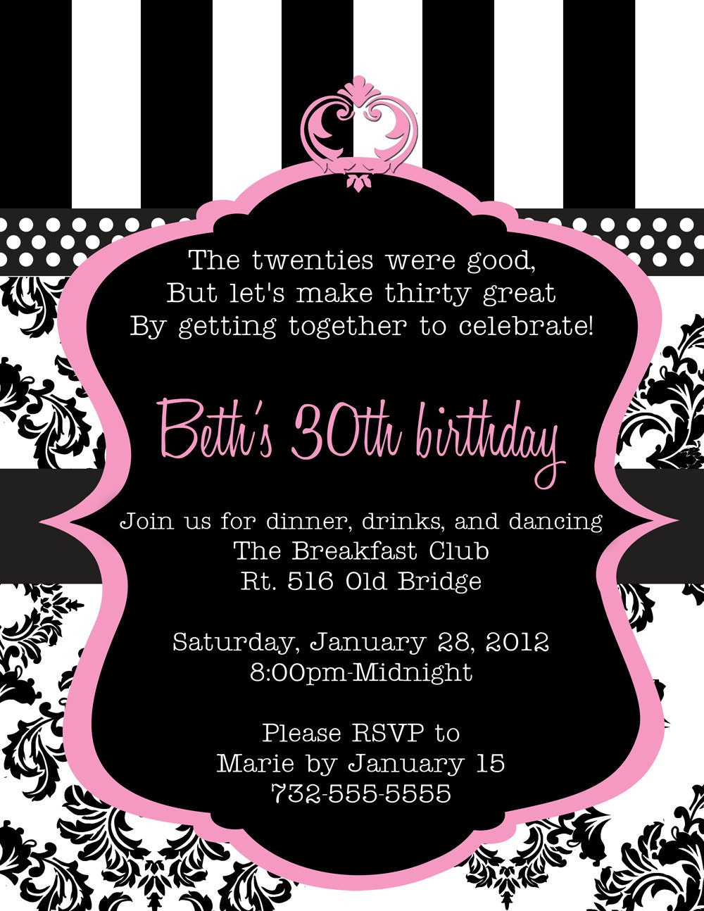 30Th Birthday Invitations For Her is one of our best ideas you might choose for invitation design