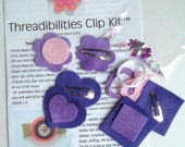 Kids Craft Kit - Threadibilities Clip Kit (tm) - Purple Passion