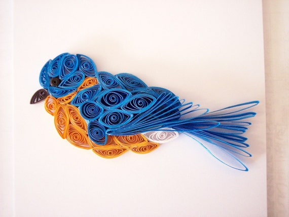 Mini Quilled Bluebird Ornament