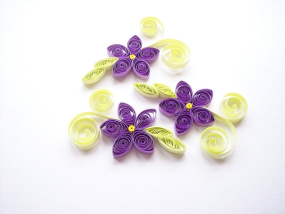 Quilled Purple Flowers