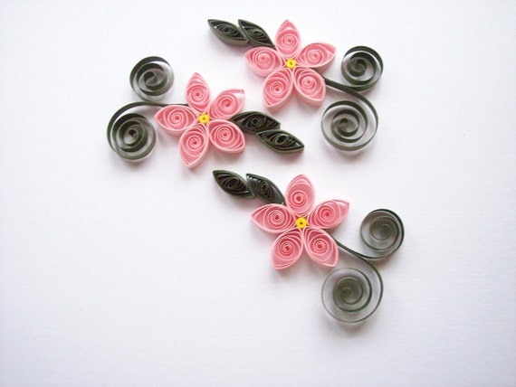 Quilled Pink Flowers