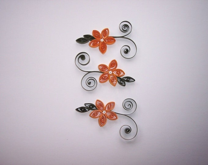 Quilled Apricot Flowers