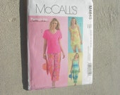 McCalls womans day collection shorts, capri and top set UNCUT size 10-16