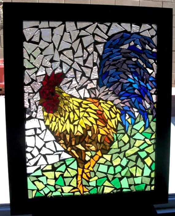 Rainbow Rooster - Piezas De Sol Mosaic