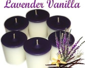 6 Lavender Vanilla Votive Candles Aromatherapy Scent
