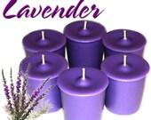 6 Lavender Votive Candles Aromatherapy Scent