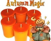 6 Autumn Magic Votive Candles Spicy Woodsy Fall Scent