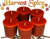 6 Harvest Spice Votive Candles Spicy Fall Scent