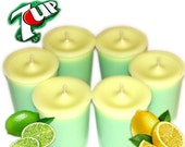 6 7Up Votive Candles Lemon Lime Soda Scent - WoodcraftsandCandles