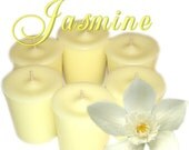 6 Jasmine Votive Candles Mysterious Floral Scent
