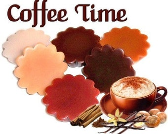 6 Coffee Time Variety Tarts Wickless Candles Coffee Scent Assortment