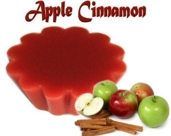 4 Apple Cinnamon Tarts Wax Potpourri Wickless Candle Melts Fruit and Spice Scent