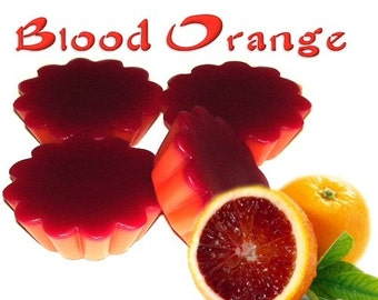 4 Blood Orange Tarts Wickless Candle Melts Fruit and Herbal Scent