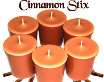 6 Cinnamon Stix Votive Candles Spicy Scent