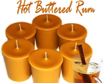 6 Hot Buttered Rum Votive Candles Buttery Rum Scent