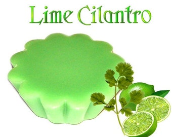 4 Lime Cilantro Tarts Wickless Candle Melts Refreshing Herbal Citrus Scent