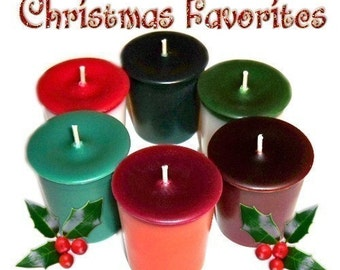 6 Christmas Favorites Votive Candles Variety Pack Holiday Scents