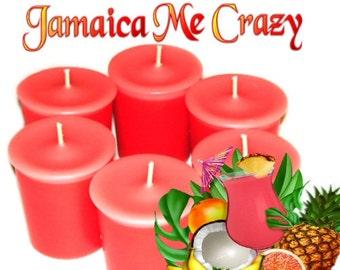 6 Jamaica Me Crazy Votive Candles Exotic Fruit Rum Coconut Scent