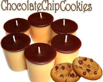 6 Chocolate Chip Cookies Votive Candles Cookie Scent