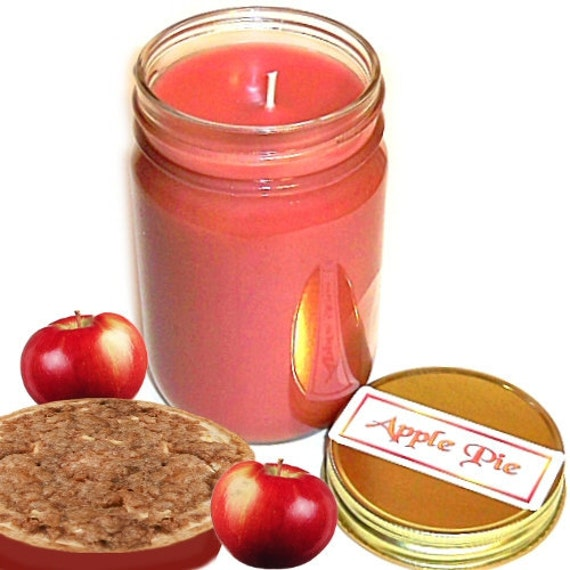Apple Pie Mason Jar Candle Fruit Bakery Scent 12 Oz Handmade