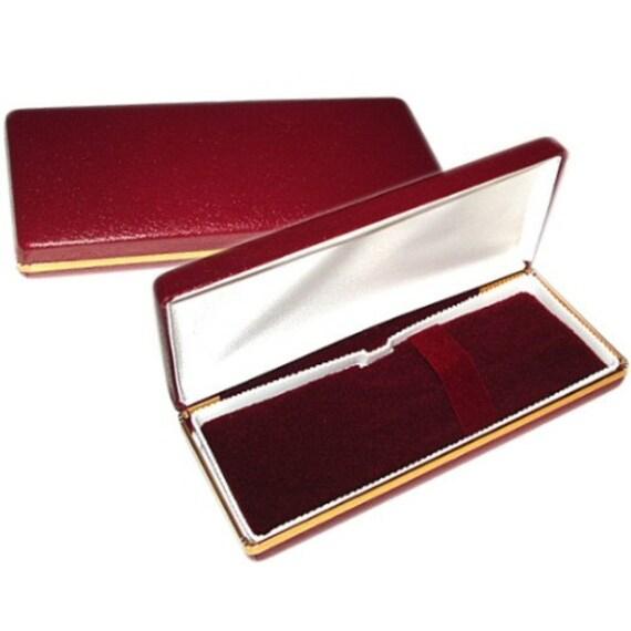 Burgundy Cabretta Single Pen Gift Box