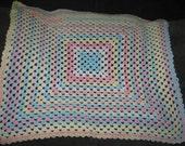 Baby  Blanket Crochet Pastel Colors Soft Unisex
