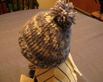 Baby Knit Tapestry Blue Hat