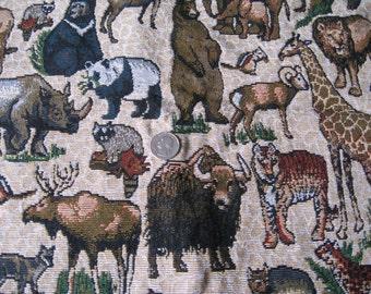 Zoo Animal Tapestry Fabric