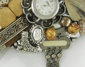 Hand Mirror - Recycled Eclectics -  Repurposed Jewelry - M000561