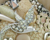 Jeweled Hand Mirror - Recycled Paradise in Peach M000612