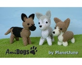 Special Deal - AmiDogs (Set 3) 3 amigurumi dog PDF CROCHET PATTERNS
