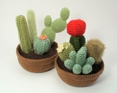 PDF Cactus Collections, eight realistic CROCHET PATTERNS