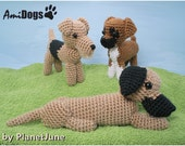 Special Deal - AmiDogs (Set 5) 3 amigurumi dog PDF CROCHET PATTERNS