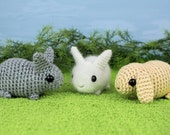 PDF Baby Bunnies - three amigurumi bunny rabbit CROCHET PATTERNS