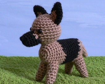 PDF AmiDogs German Shepherd amigurumi dog CROCHET PATTERN