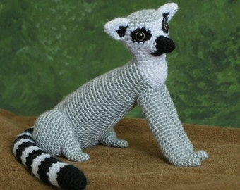 PDF Ring-Tailed Lemur amigurumi CROCHET PATTERN