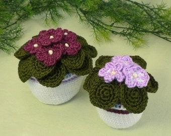 PDF African Violets CROCHET PATTERN
