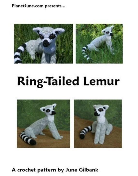 Amigurumi Nurse Free Pattern : PDF Ring-Tailed Lemur amigurumi CROCHET PATTERN from ...