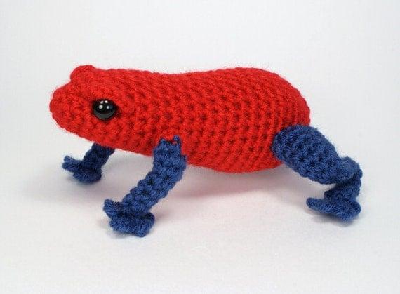 PDF Poison Dart Frog amigurumi CROCHET PATTERN